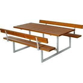 Plus Basic bord-bænkesæt m. ryglæn,Grundmalet teak