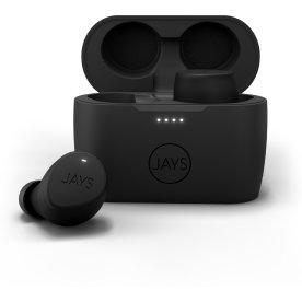 Jays m-Seven in-ear høretelefoner, sort på sort