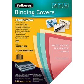 Fellowes Binding Covers A4, super clean, 200 my