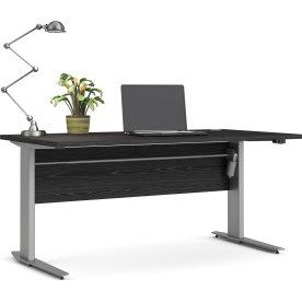 BudgetLine hæve/sænkebord, 150x80cm, sort/alu stel