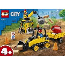 LEGO City 60252 Byggeplads med bulldozer, 4+