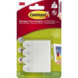 Command Klæbestrips til billedophæng, små, hvid