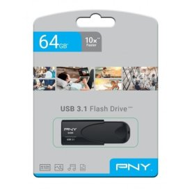 PNY USB 3.1 Attache 4 - 64GB, sort