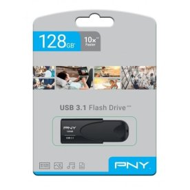 PNY USB 3.1 Attache 4 - 128GB, sort