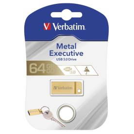 Verbatim USB 3.0 Metal Executive drev 64GB, guld