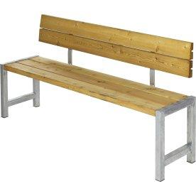 Plus Plankebænk m. ryglæn, L 176 cm, Lærk