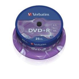 Verbatim DVD+R 16x 4,7GB spindel, 25 stk