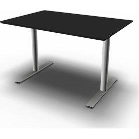 InLine hæve/sænkebord, 120x80 cm, sort/alu