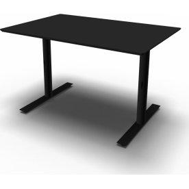 InLine hæve/sænkebord, 120x80 cm, sort/sort