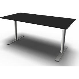 InLine hæve/sænkebord, 160x80 cm, sort/alu