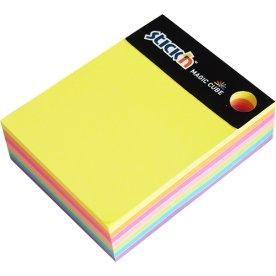 Stick'n Magic Cube 101 x 76 mm, neonfarver