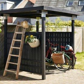 Plus Cubic Cykelskur m/rustikhegn 244x200x248 cm