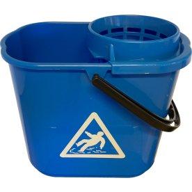 Moppespand 12 L med vrider, blå
