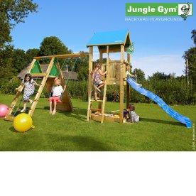 Jungle Gym legetårn m. climb modul og rutschebane