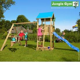 Junlge Gym Castle legetårn komplet inkl. swing mod