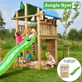 Jungle Gym Fort legetårn m. sand og rutschebane