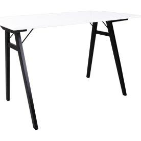 Vojens Skrivebord, hvid/sort, 120x60cm