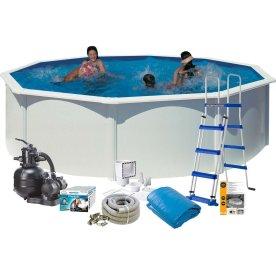 Pool Basic, 120 cm, Ø460 cm, hvid