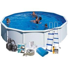 Pool Basic, 120 cm, Ø550 cm, hvid