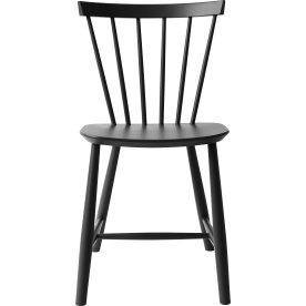 J46 Spisebordstol, sort