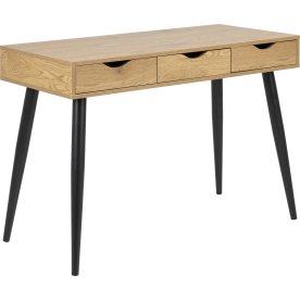 Neptun Skrivebord m/3 skuffer, bøg/sort, 110x50cm