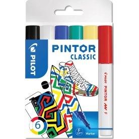 Pilot Pintor Classic Marker | F | 6 farver