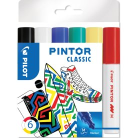 Pilot Pintor Classic Marker | M | 6 farver