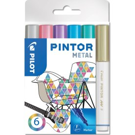 Pilot Pintor Metal Marker | F | 6 farver