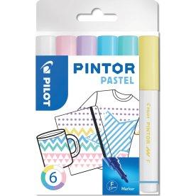 Pilot Pintor Pastel Marker | F | 6 farver