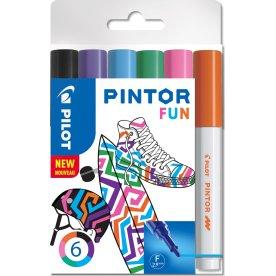Pilot Pintor Fun Marker | F | 6 farver