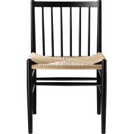J80 Spisebordstol, Sort/Natur