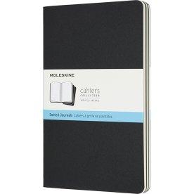 Moleskine Cahier Notesbog | L | Dot. | Sort