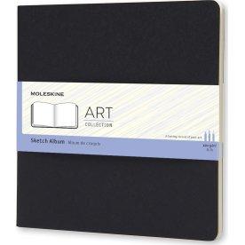 Moleskine Art Sketch Album   19x19 cm   Sort