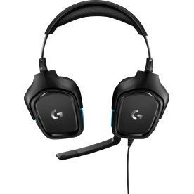 Logitech G432 gaming headset, sort
