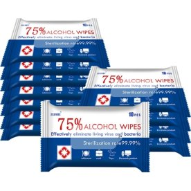 Alkohol Wet Wipes 75 %, 10 stk