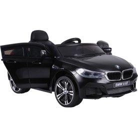 El- drevet BMW 6 GT børnebil, 12V, sort