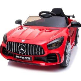 El-drevet Mercedes GTR AMG børnebil, 12V, rød