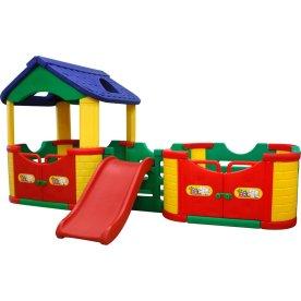 Elitetoys legeplads med hus, farverig