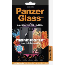 PanzerGlass ClearCase sort cover til iPhone 7/8/SE