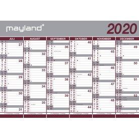 Mayland 20/21 Vægkalender | Kæmpe | 2x6