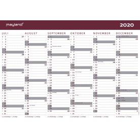 Mayland 20/21 Vægkalender | Karton | A4 | 2x6