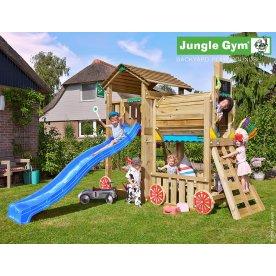 Jungle Gym Cottage legetårn inkl. tog modul