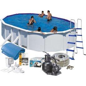 Pool Basic 120 cm, 500x300 cm, hvid
