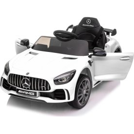 El-drevet Mercedes GTR AMG børnebil, 12V, hvid