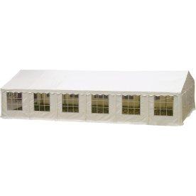 Luksus partytelt 6x12 m, 80 pers., PVC, hvid