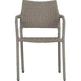 Maja havestol, stabelbar, grå