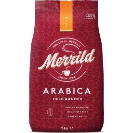 Merrild Arabica helbønner, 1000g