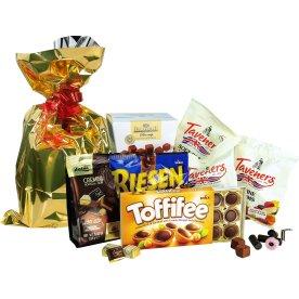 Hjerte julesæk m. slik og chokolade, 1025 g