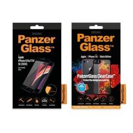 PanzerGlass iPhone 7/8/SE (2020), sampak, sort