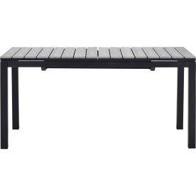 William havebord, sort/grå, 160/210/260x95 cm